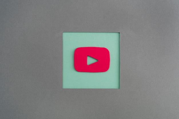 Mídia social natureza morta com logotipo