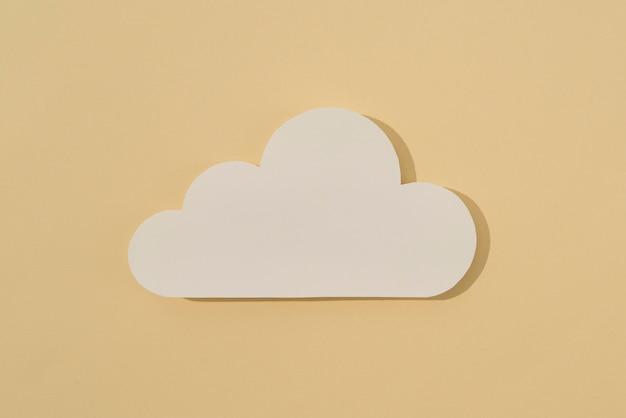 Mídia social natureza morta com nuvem