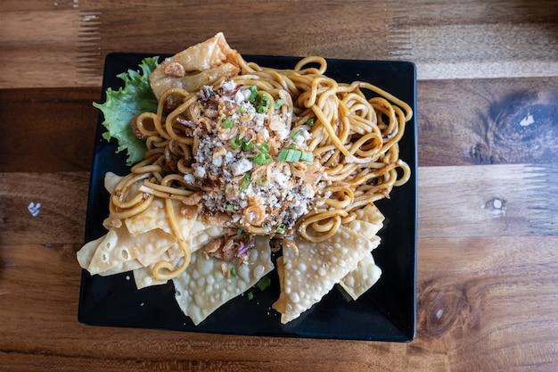 Mie goreng, culinária de macarrão frito da indonésia