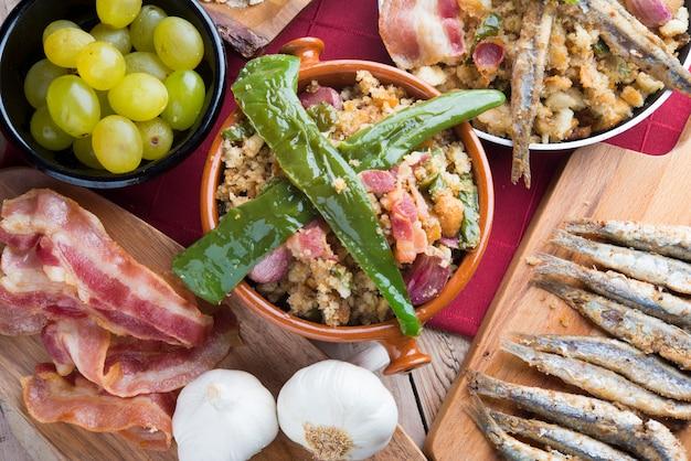 Migas comida tradicional na espanha