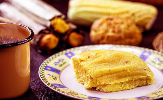 Milho doce regional brasileiro, chamado pamonha, típico do mês de junho
