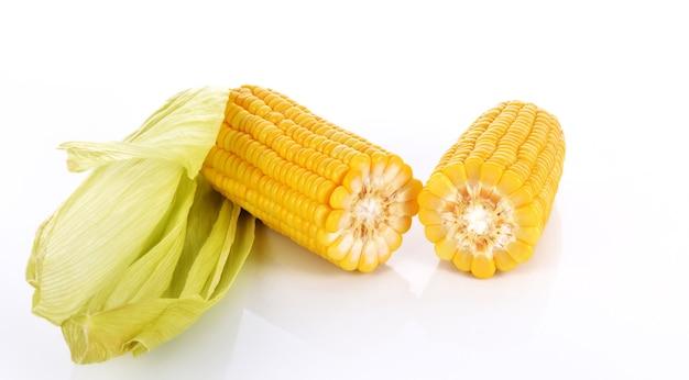 Milho em espiga de milho isolado traçado de recorte