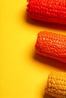 Milho pintado em cores diferentes