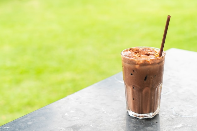 Milkshake de chocolate gelado