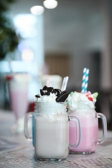 Milkshakes deliciosos