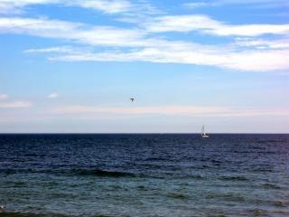 Milwaukee água, à beira-mar, o barco