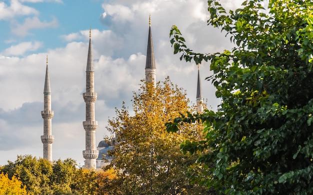 Minaretes da mesquita do sultão ahmed
