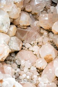 Mineral macro de pedra de cristal.