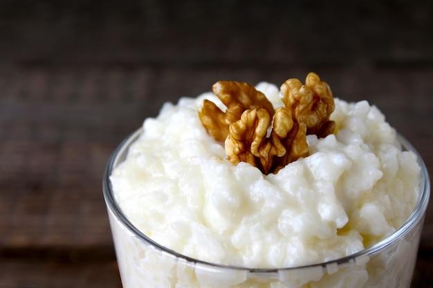 Mingau de arroz mingau de nogueira