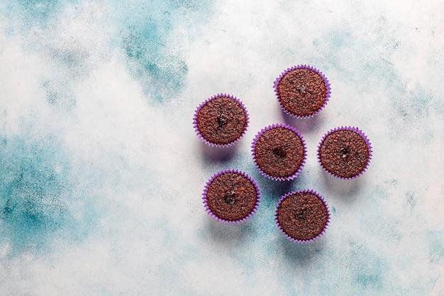 Mini bolinhos sufle de chocolate