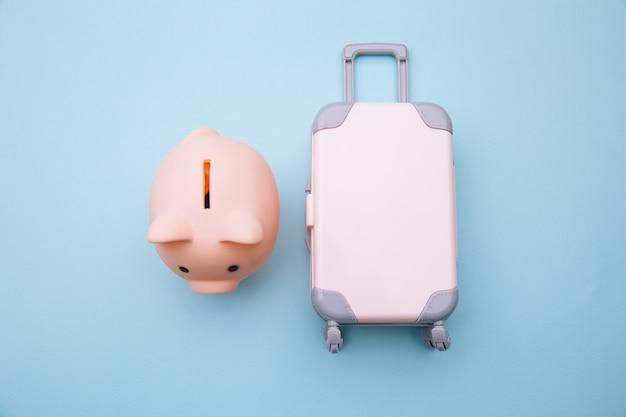Mini mala de viagem com cofrinho