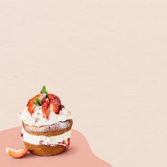 Mini pastelaria caseira de morango
