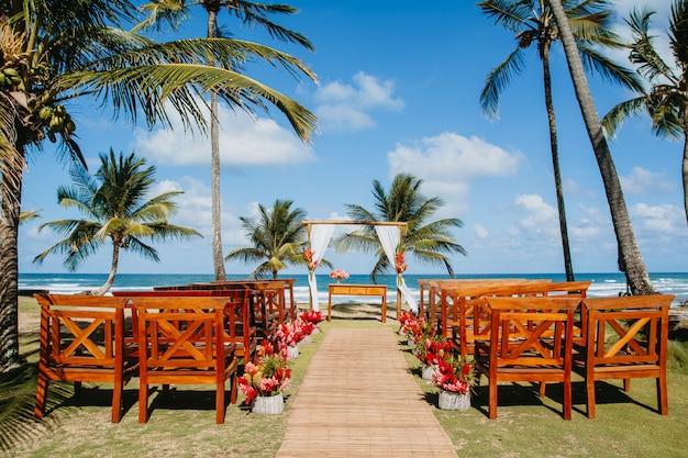 Mini praia do casamento