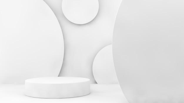 Minimal na apresentação de produto branco de renderização em 3d