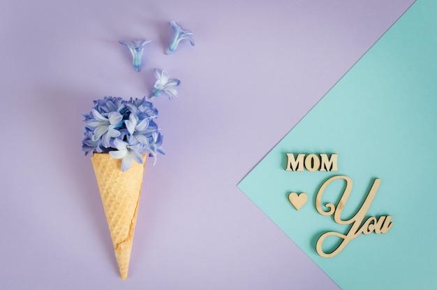 Minimalismo floral cartão