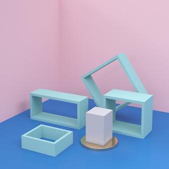 Minimalista moderno para exibição ou vitrine do pódio.