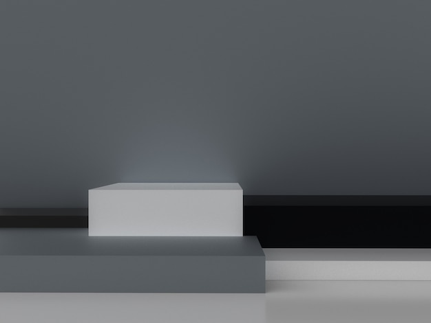 Minimalistic 3d que rende a forma geométrica abstrata.