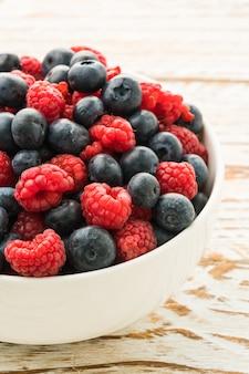 Mirtilo e frutas rasberry