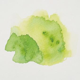 Mistura de aquarela verde e amarela