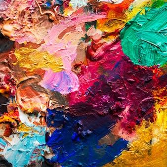 Mistura de cor de óleo