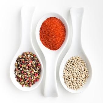 Mistura de cozinha e especiarias em pó