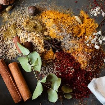 Mistura de especiarias tradicionais indianas