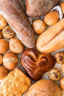 Mistura de pão plana