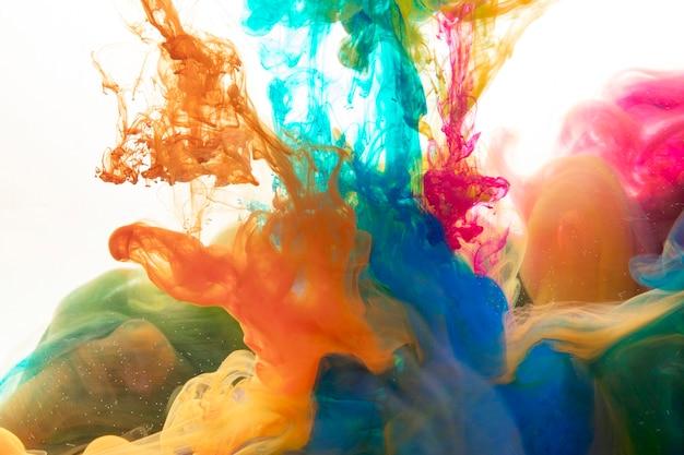 Mistura de pigmentos brilhantes
