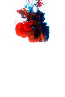 Mistura de tinta gota na água