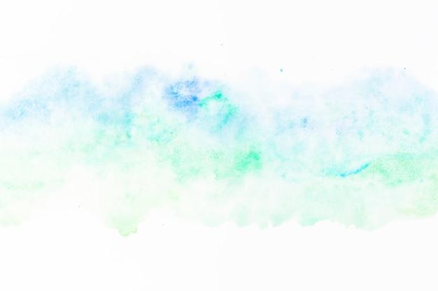 Mistura de tinta verde e azul