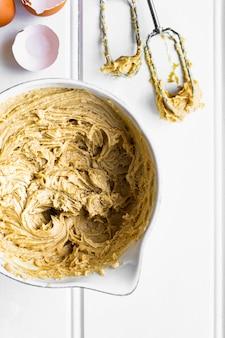Mistura fresca para receita de bolo caseiro de limão