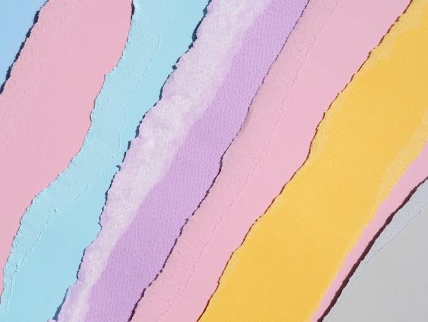 Mistura quente e fria de resumo de papel de cores