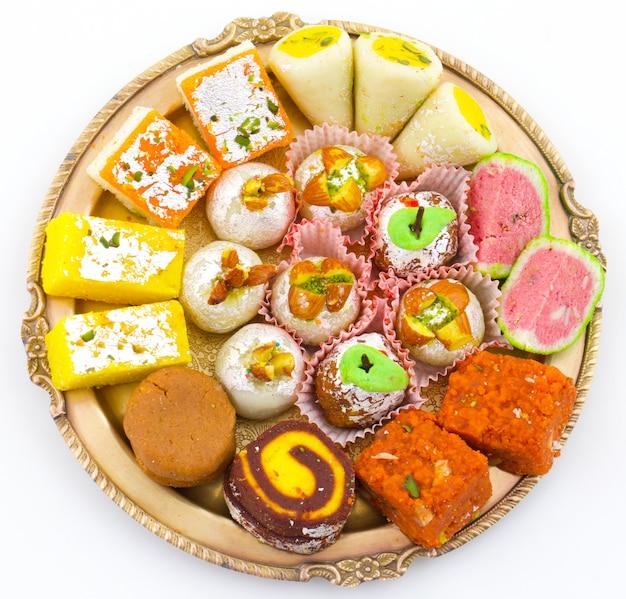 Mistura tradicional indiana comida doce