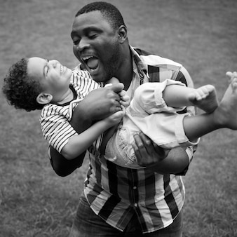 Misturado, raça, americano africano, divertimento, amor, lar, africano