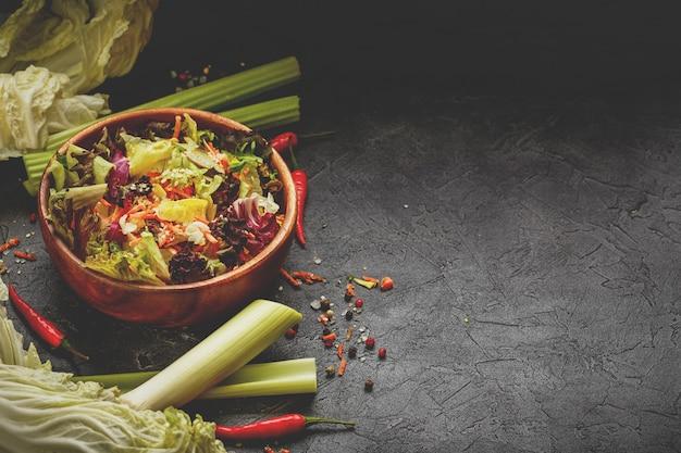 Mix de folhas de salada fresca mix de folhas de salada fresca