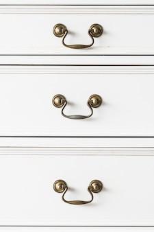 Mobília de madeira do punho do armário
