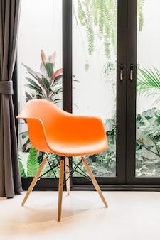 Mobiliário cadeira de decoração residencial amarelo