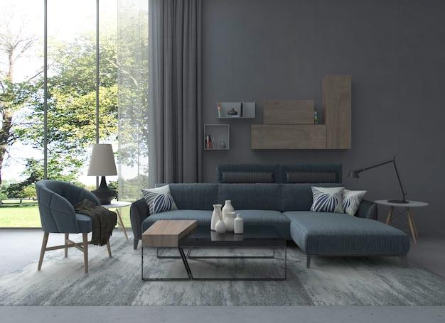 Mobiliário de interior simples de estilo europeu