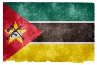 Moçambique orgulho da bandeira do grunge