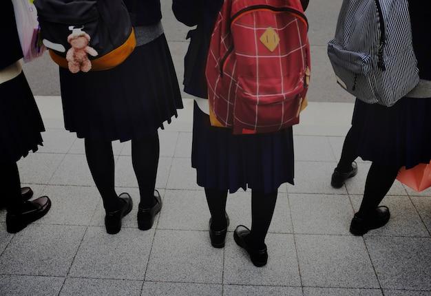 Mochila japonesa de escolaridade de estudante