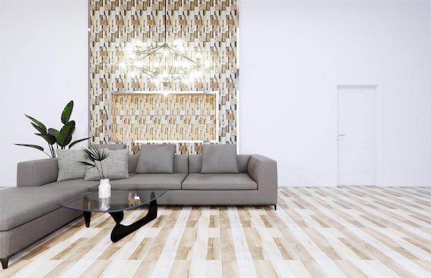 Mock-se estilo japonês interior moderno, renderização em 3d