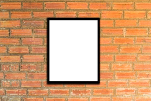 Mock-se hipster de parede de frame e tijolo poster ou vintage.