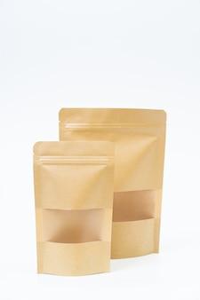 Mock-se lanche saco de papel no espaço em branco