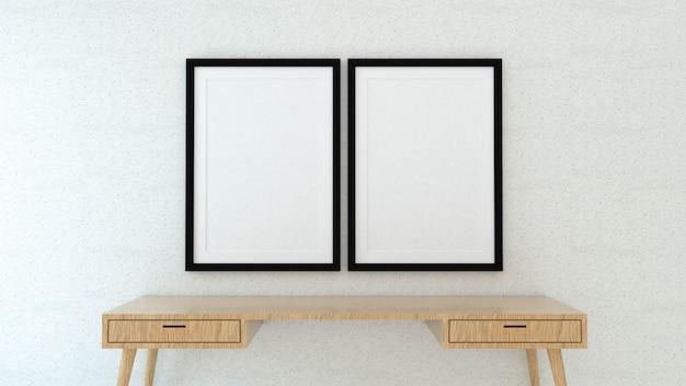 Mock-se quadro de cartaz com fundo interior