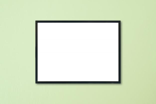 Mock-se quadro em branco na parede do quarto