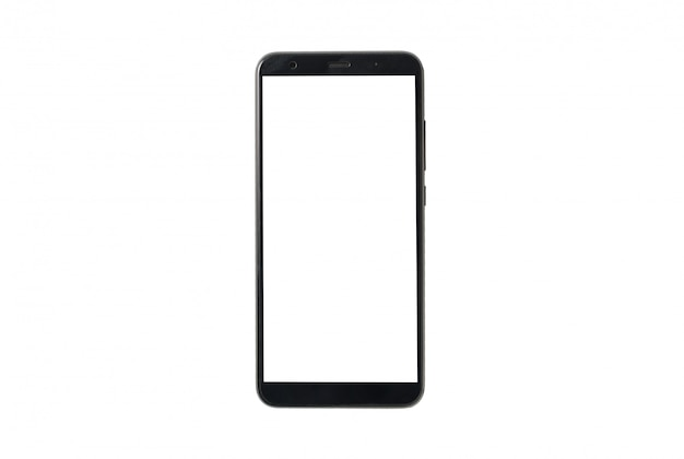 Mock up celular isolado no fundo branco. brincar