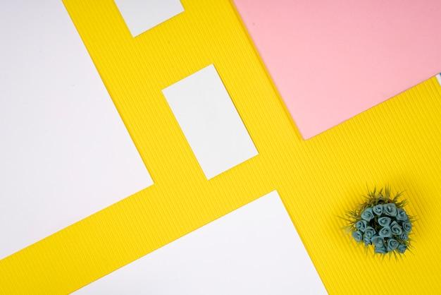 Mock up de cartão de textura de papel