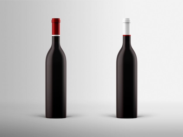 Mock-up de garrafa de vinho