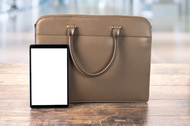 Mock up digital tablet pc com tela em branco
