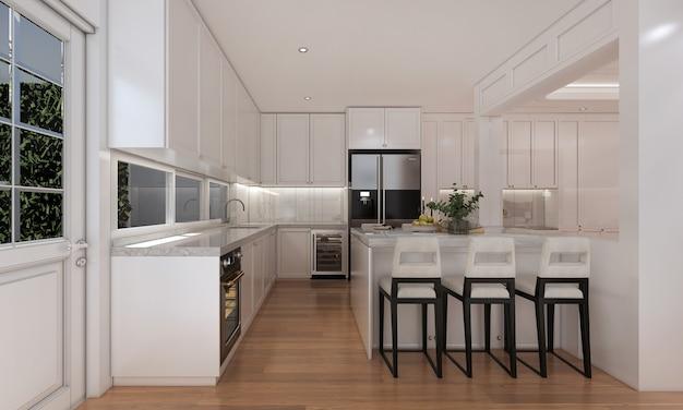 Mock up e decoração e cozinha e despensa e fundo de parede